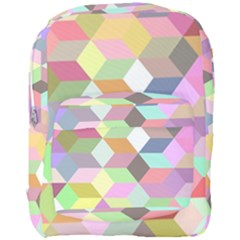Mosaic Background Cube Pattern Full Print Backpack