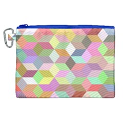 Mosaic Background Cube Pattern Canvas Cosmetic Bag (xl)