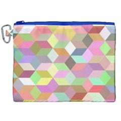 Mosaic Background Cube Pattern Canvas Cosmetic Bag (xxl)