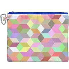 Mosaic Background Cube Pattern Canvas Cosmetic Bag (xxxl)