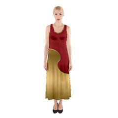 Background Festive Wave Sleeveless Maxi Dress
