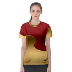 Background Festive Wave Women s Sport Mesh Tee