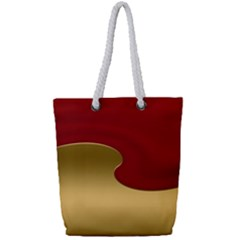 Background Festive Wave Full Print Rope Handle Tote (small)