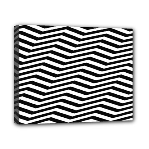 Zig Zag Zigzag Chevron Pattern Canvas 10  X 8