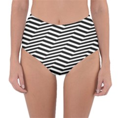 Zig Zag Zigzag Chevron Pattern Reversible High Waist Bikini Bottoms