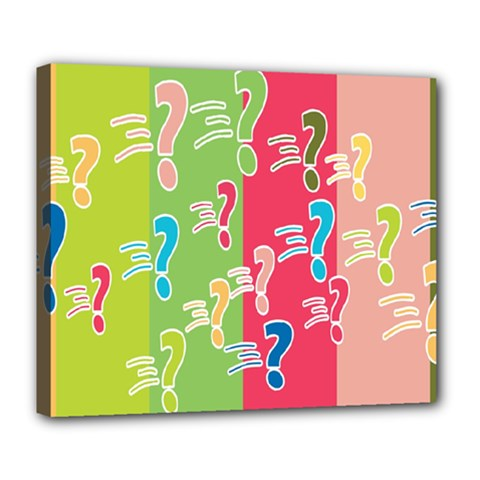 Question Mark Problems Clouds Deluxe Canvas 24  X 20