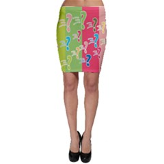 Question Mark Problems Clouds Bodycon Skirt