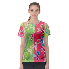 Question Mark Problems Clouds Women s Sport Mesh Tee