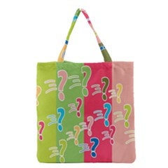 Question Mark Problems Clouds Grocery Tote Bag
