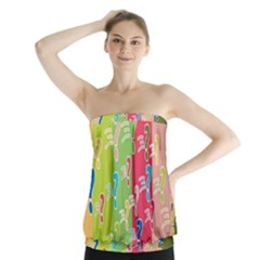 Question Mark Problems Clouds Strapless Top