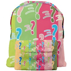Question Mark Problems Clouds Giant Full Print Backpack