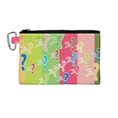 Question Mark Problems Clouds Canvas Cosmetic Bag (medium)