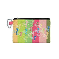 Question Mark Problems Clouds Canvas Cosmetic Bag (small)