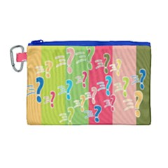 Question Mark Problems Clouds Canvas Cosmetic Bag (large)