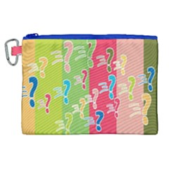 Question Mark Problems Clouds Canvas Cosmetic Bag (xl)