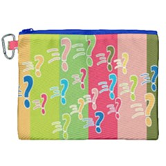 Question Mark Problems Clouds Canvas Cosmetic Bag (xxl)