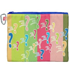 Question Mark Problems Clouds Canvas Cosmetic Bag (xxxl)