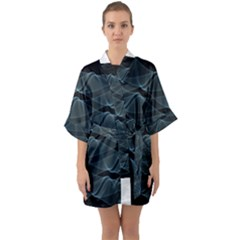 Desktop Pattern Vector Design Quarter Sleeve Kimono Robe