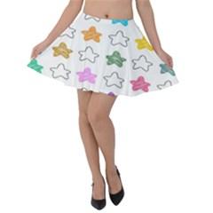 Stars Set Up Element Disjunct Image Velvet Skater Skirt