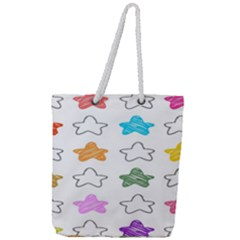 Stars Set Up Element Disjunct Image Full Print Rope Handle Tote (large)