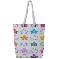 Stars Set Up Element Disjunct Image Full Print Rope Handle Tote (small)