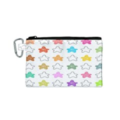 Stars Set Up Element Disjunct Image Canvas Cosmetic Bag (small)