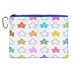 Stars Set Up Element Disjunct Image Canvas Cosmetic Bag (xl)