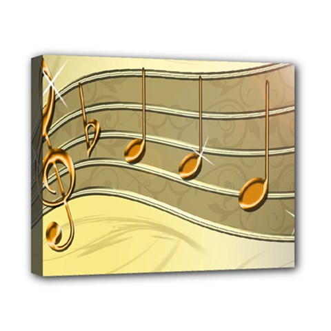 Music Staves Clef Background Image Canvas 10  X 8