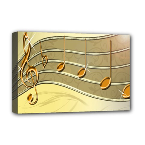 Music Staves Clef Background Image Deluxe Canvas 18  X 12