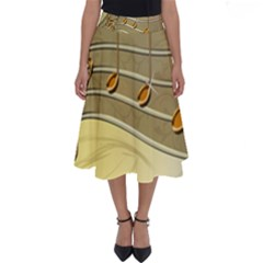 Music Staves Clef Background Image Perfect Length Midi Skirt