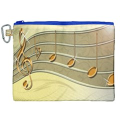 Music Staves Clef Background Image Canvas Cosmetic Bag (xxl)
