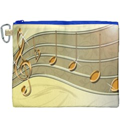 Music Staves Clef Background Image Canvas Cosmetic Bag (xxxl)