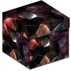 Crystals Background Design Luxury Storage Stool 12