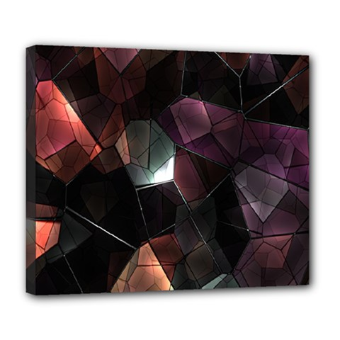 Crystals Background Design Luxury Deluxe Canvas 24  X 20