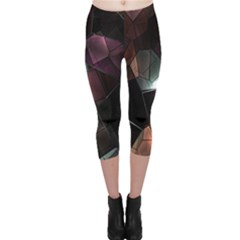 Crystals Background Design Luxury Capri Leggings