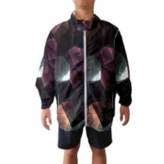 Crystals Background Design Luxury Wind Breaker (kids)