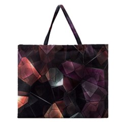 Crystals Background Design Luxury Zipper Large Tote Bag