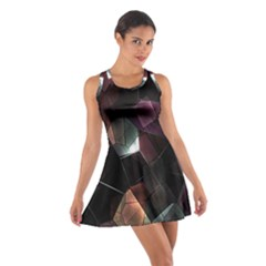 Crystals Background Design Luxury Cotton Racerback Dress