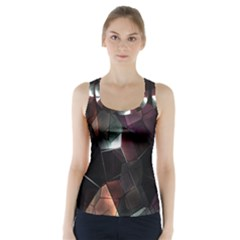 Crystals Background Design Luxury Racer Back Sports Top