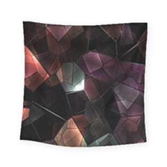 Crystals Background Design Luxury Square Tapestry (small)