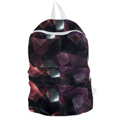 Crystals Background Design Luxury Foldable Lightweight Backpack