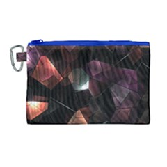 Crystals Background Design Luxury Canvas Cosmetic Bag (large)
