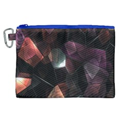 Crystals Background Design Luxury Canvas Cosmetic Bag (xl)