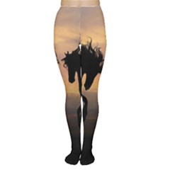 Horses Sunset Photoshop Graphics Women s Tights