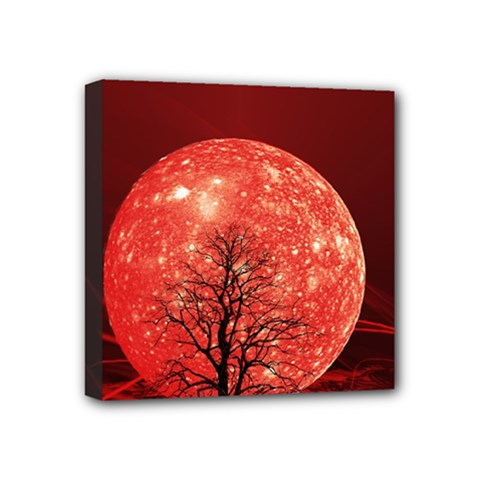 The Background Red Moon Wallpaper Mini Canvas 4  X 4