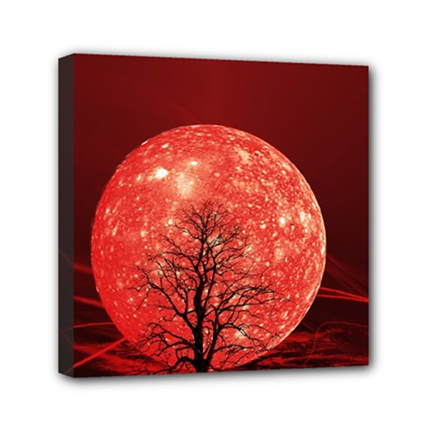 The Background Red Moon Wallpaper Canvas Travel Bag