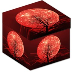 The Background Red Moon Wallpaper Storage Stool 12