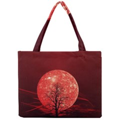 The Background Red Moon Wallpaper Mini Tote Bag