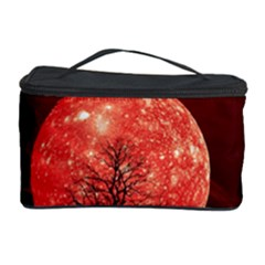 The Background Red Moon Wallpaper Cosmetic Storage Case