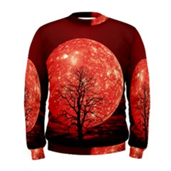 The Background Red Moon Wallpaper Men s Sweatshirt